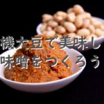 日本のスーパーフード!お味噌作り